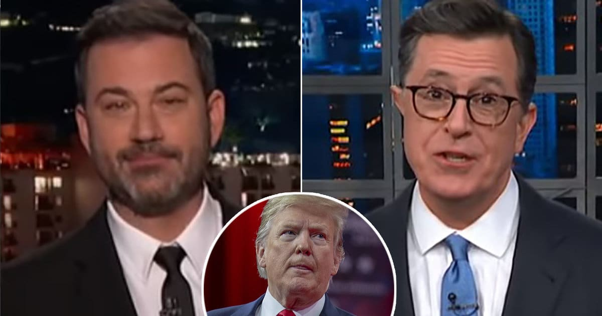 Colbert and Kimmel Clap Back at Trump Complaining About 'One-Sided Hatred' of Late-Night Shows