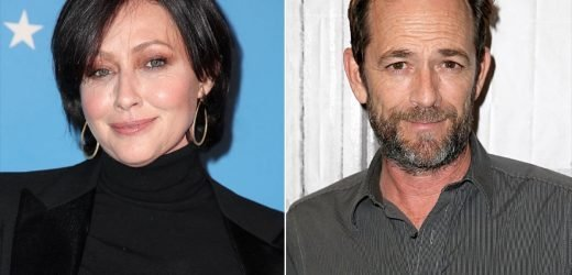 Shannen Doherty Fights Back Tears After Luke Perry's Reported Stroke: 'He's Going to Be Great'