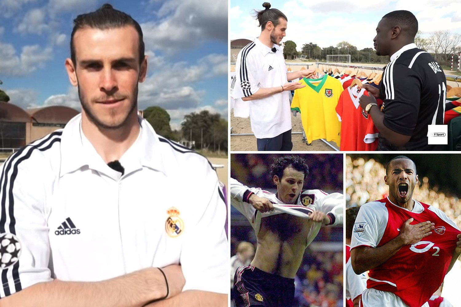 Ex-Spurs star Bale reveals he idolised Arsenal legend Henry and Man Utd star Giggs as a kid