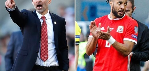 Ryan Giggs reveals Ashley Williams left fuming by axe from Wales' Euro 2020 qualifying win over Slovakia