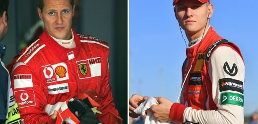 Mick Schumacher, 20, in emotional test drive for dad Michael's old team Ferrari as he plots career in F1