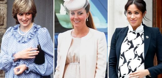 Royal maternity style: Look back at Meghan, Kate and Diana's pregnancy looks