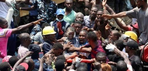 Several school children trapped after building collapses in Nigeria