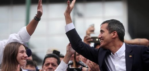 In jab at Maduro, Guaido makes triumphant return to Venezuela