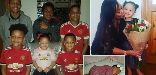 Mother, 42, finally has a girl after having five boys