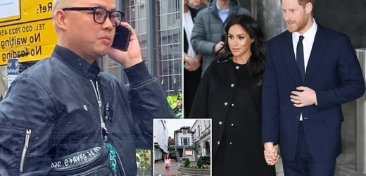 Meghan's make-up artist Daniel Martin is spotted in London