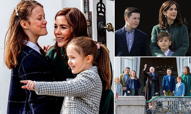 Princess Mary's tender moment with kids on Queen Margrethe's birthday