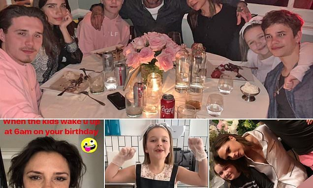 Inside Victoria Beckham's 45th birthday: Star celebrates with family