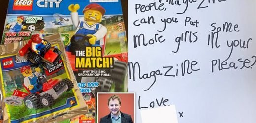 Four-year-old girl points out Lego magazine only features one woman