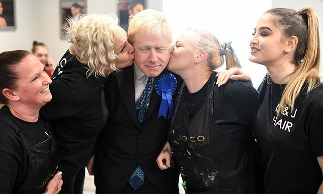 The name's Johnson, Boris Johnson: Wannabe Tory leader poses with fans