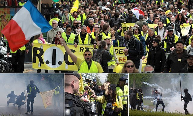Yellow Vest riots erupt in France for the 24th 'Day of Rage' in a row