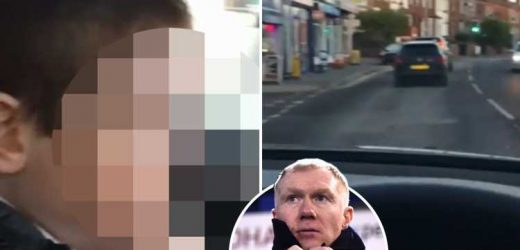 Paul Scholes films young son on his phone while driving in new Instagram video