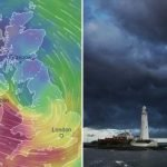 UK weather forecast – Storm Hannah to smash Britain with 75mph gales and 26ft 'monster wave' in weekend washout