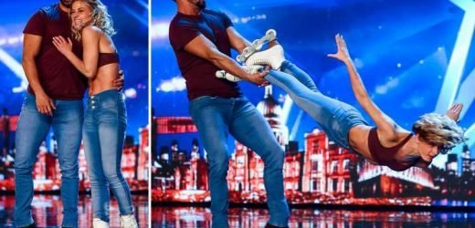 Britain's Got Talent roller skaters Adam and Rosie's act more dangerous than the head banger on ice