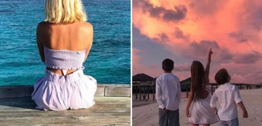 Holly Willoughby shows off her tan in a crop top as 'beautiful' family holiday in the Maldives ends