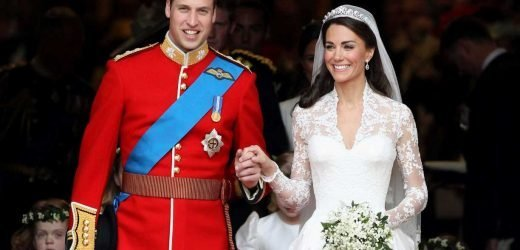 When was Prince William and Kate Middleton's Royal Wedding, where was the ceremony and how old were they?