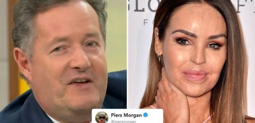Piers Morgan flirts with Katie Piper on Twitter after she admits he's her secret crush