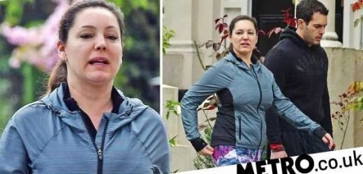 Kelly Brook goes make-up free as she hits the gym with boyfriend Jeremy