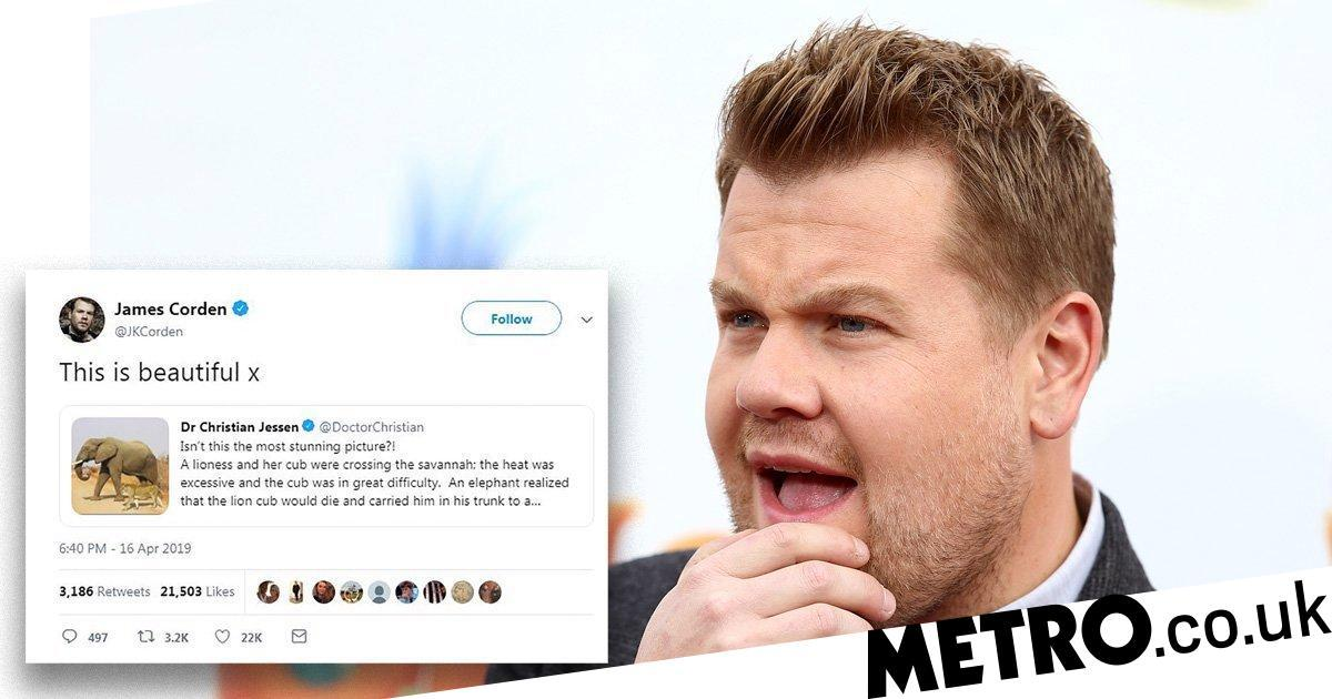 James Corden is all of us as he falls for very bad Photoshop job