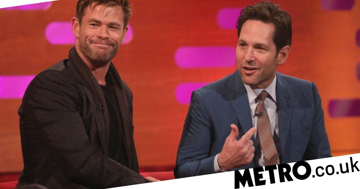 Avengers' Paul Rudd wants to know why his body doesn't look like Chris Hemsworth