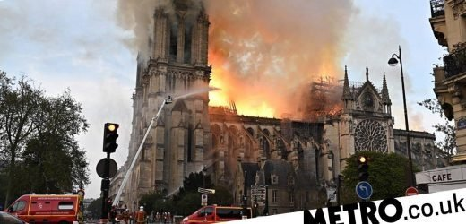 Maisie Williams and Dua Lipa tributes as fire rips through Notre-Dame cathedral