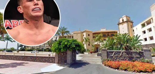 UFC star Darren Till fined £700 after trashing hotel room and 'stealing' taxi on Tenerife break with pals