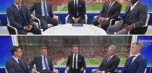 Shaun Goater bizarrely morphs into Joe Hart during Sky Sports' Manchester derby build-up… leaving Twitter users bewildered