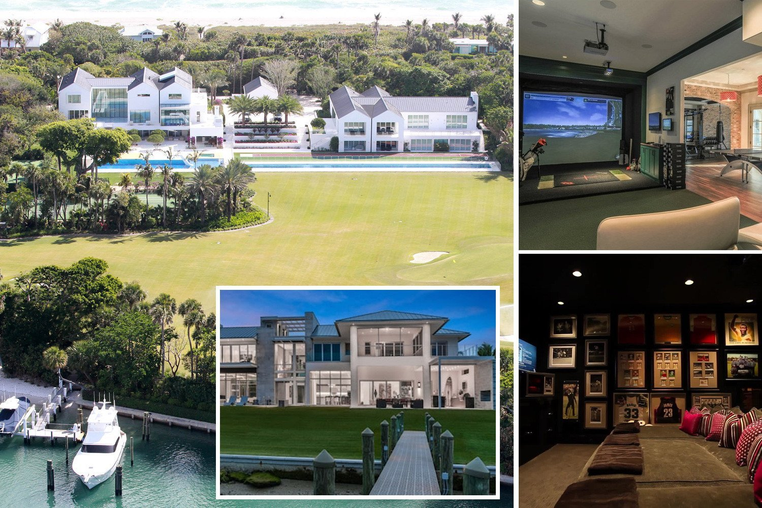 See the incredible mansions (and one bus) owned by the golfers like Tiger Woods and Rory McIlroy playing in the Masters 2019