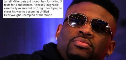 Boxing fans fume as Jarrell Miller is given 'pathetic' six-month ban for doping THREE times ahead of Anthony Joshua fight