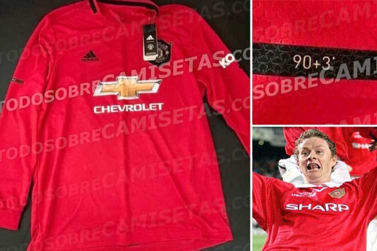 Man Utd's new 'leaked' kit pays homage to Solskjaer by referencing the minute he scored Champions League-winning goal against Bayern Munich in 1999