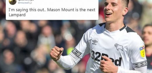 Chelsea fans hail Mason Mount as the 'next Frank Lampard' after hat-trick for Derby against Bolton
