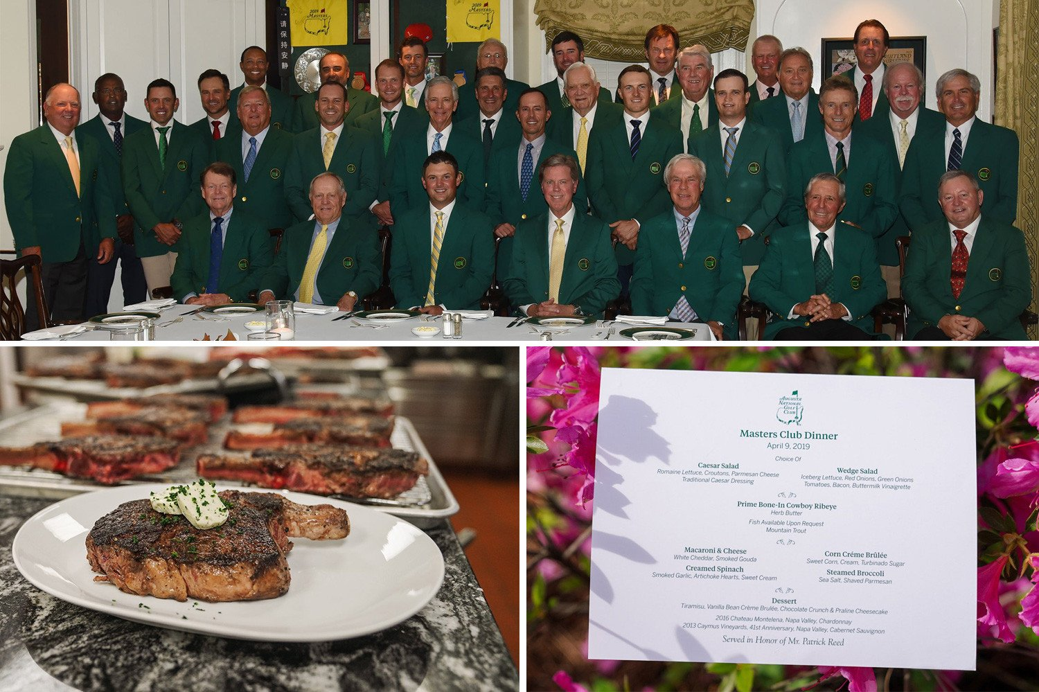 Inside Masters Champions Dinner where Patrick Reed and Co gorged on cowboy ribeye steak, Mountain Trout and mac and cheese