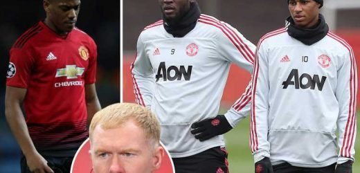 Scholes unleashes brutal rant on Rashford, Martial and Lukaku as Man Utd goals dry up