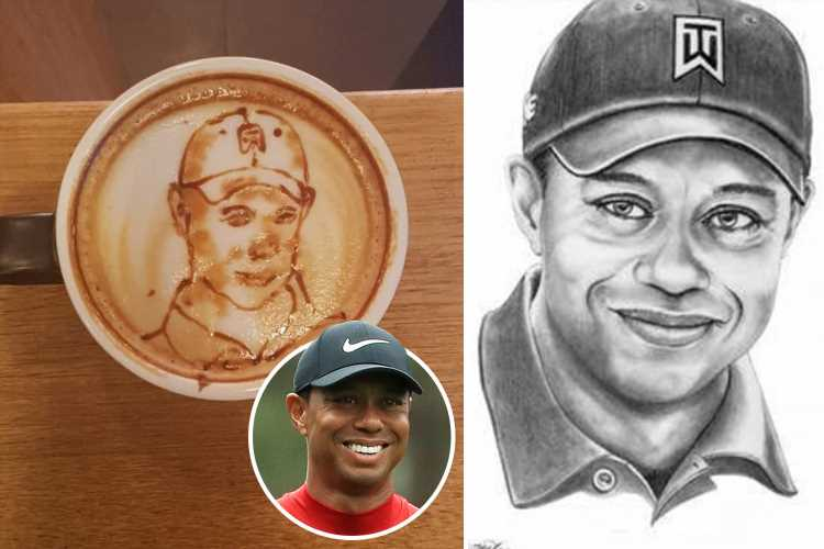 Tiger Woods immortalised in cup of COFFEE after incredible Masters 2019 victory gives fans a buzz