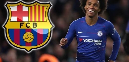 Barcelona plot summer swoop for Chelsea ace Willian after two failed transfers