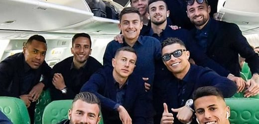 Cristiano Ronaldo in Juventus squad for Ajax trip and celebrates by wearing sunglasses inside private plane
