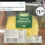 Shoppers slam Asda for selling peeled 'whole' pineapple inside plastic box