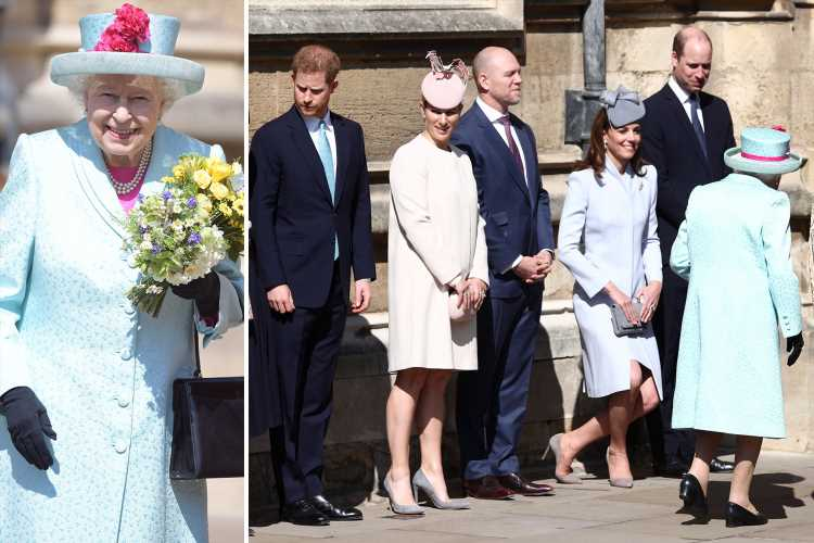 Prince Harry joins the Queen on her 93rd birthday without heavily pregnant Meghan Markle fuelling speculation royal baby is imminent