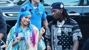 Cardi B & Offset Look Madly In Love As They Pack On The PDA During Coachella Performance