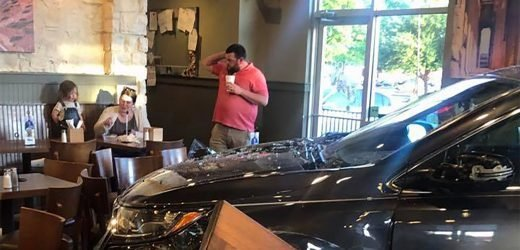 Restaurant jokes about 'new drive-in' after car crashes into its dining room