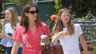 Jennifer Garner & Ben Affleck Get Dressed Up With Their Kids For Easter Service As A Family — Pics
