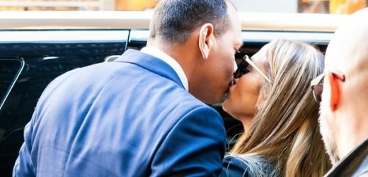 Jennifer Lopez Grabs A-Rod's Butt After Giving Him Big Kiss On 'Hustler' Set — See Pic