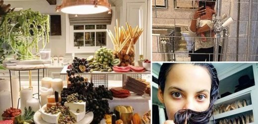 A DJ booth, wall of shoes, marble-topped kitchen and TV in the bathroom… inside Rochelle and Marvin Humes' plush £1.7 million Essex mansion