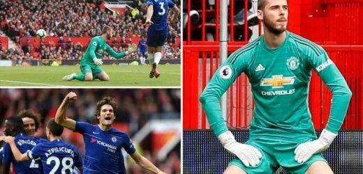 Manchester United 1 Chelsea 1: Marcos Alonso pounces on David De Gea howler to deny Juan Mata a crucial birthday victory