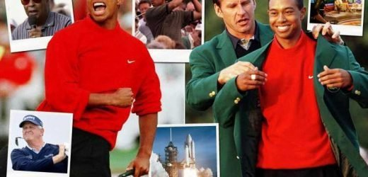 Tiger Woods won the 1997 Masters, thanks to dad's putting tip,trips to a TV studio, the Space Shuttle and Colin Montgomerie