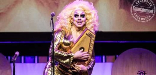 Trixie Mattel performs music at Moving Parts movie premiere