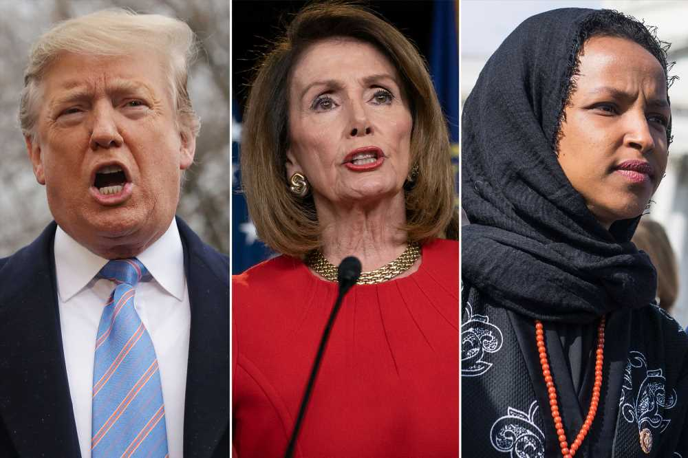 Trump blasts Pelosi for defending Ilhan Omar