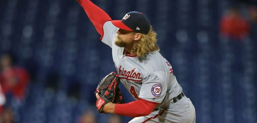 Nationals reliever Trevor Rosenthal finally gets an out, brings ERA below infinity