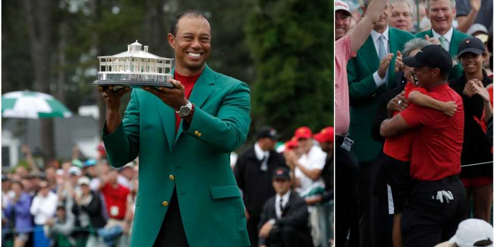 Tiger Woods joked that he's 'excited for Show and Tell' so his kids can show off his green jacket and fifth Masters trophy