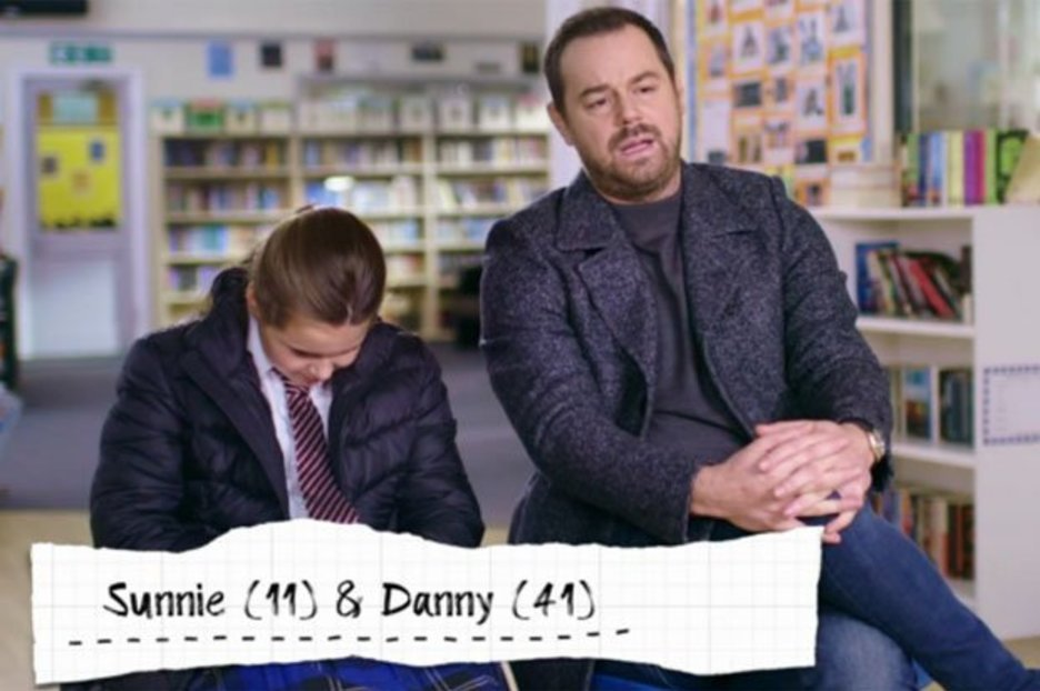Danny Dyer cringes as he daughter talks about sperm